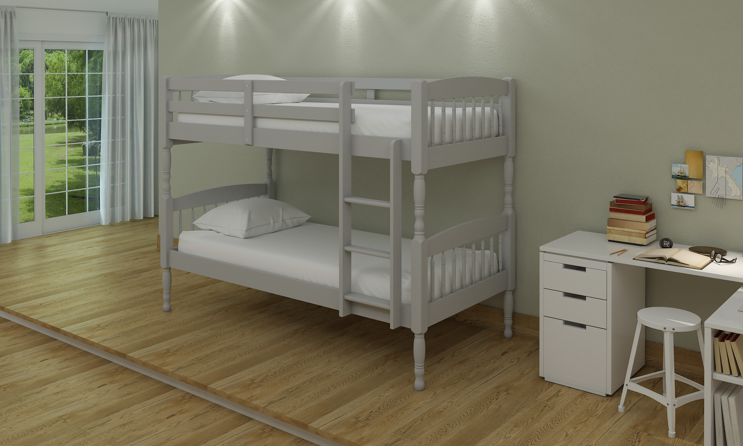 Picture of: Alex Grey Wooden Bunk Bed Hodgins Furniture Balbriggan