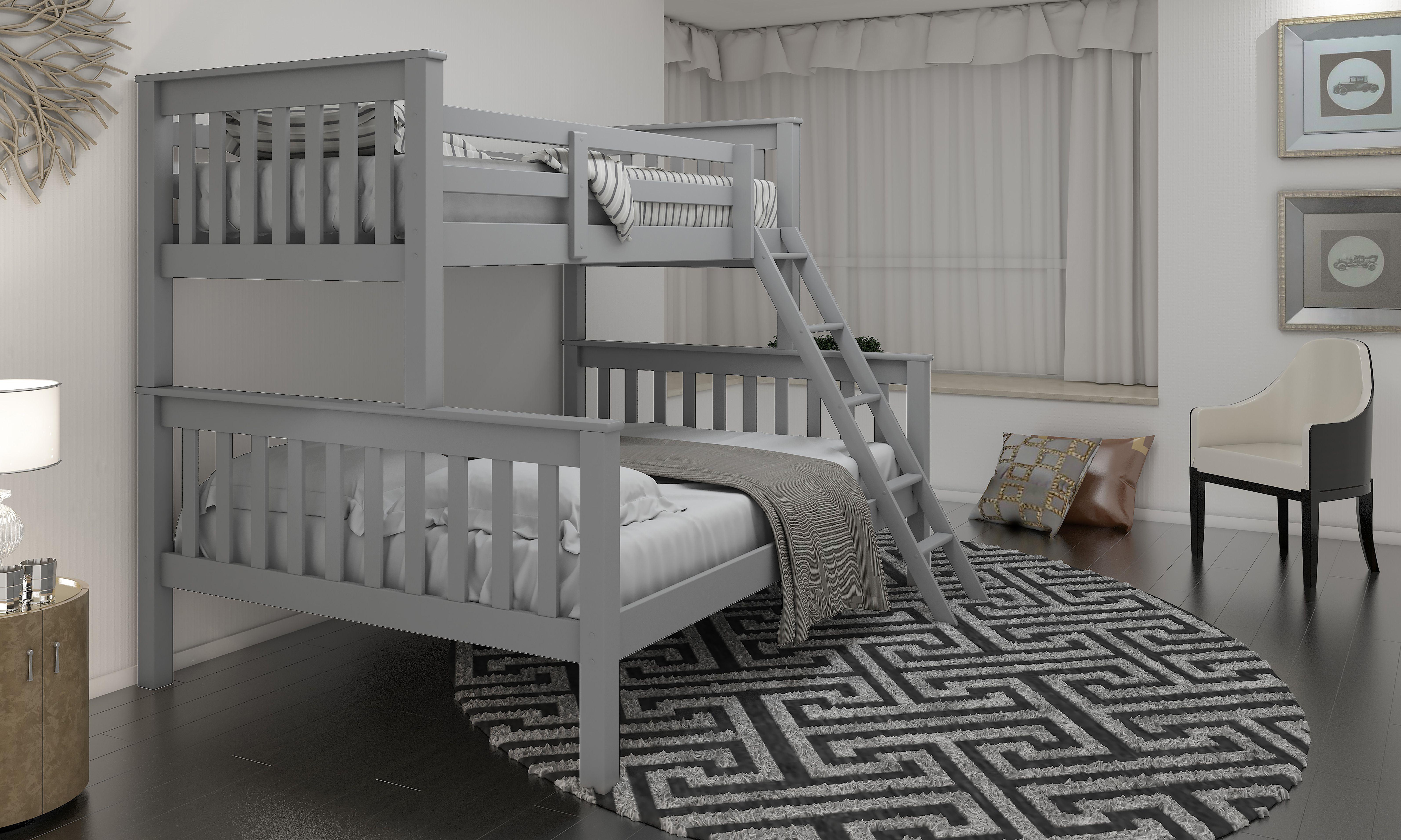 Picture of: Triple Grey Wooden Bunk Bed Hodgins Furniture Balbriggan